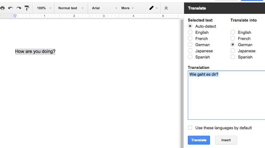 Translate add-on