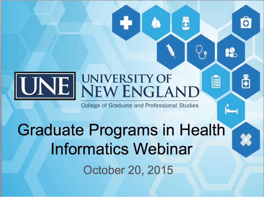 Webinar for Health Informatics