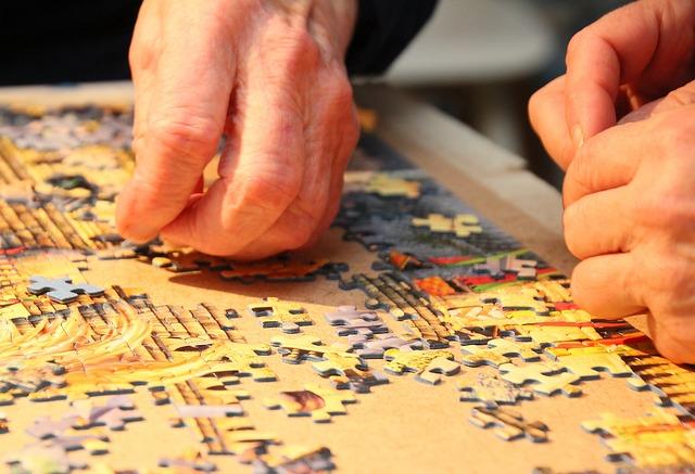 putting together a jigsaw