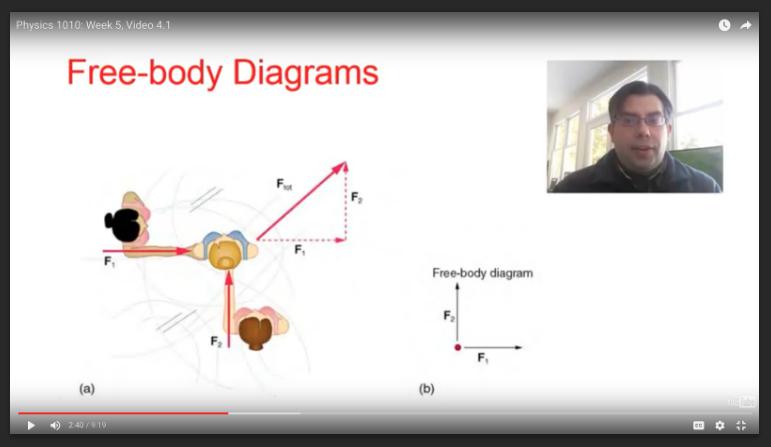 Example Physics I mini-lecture