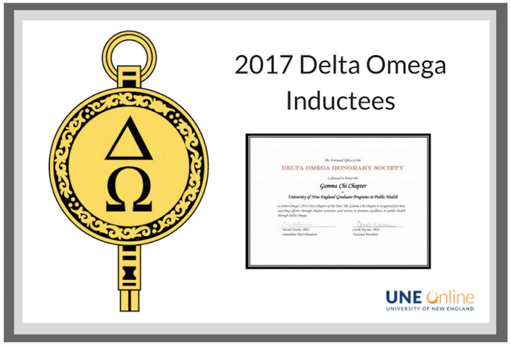 2017 Delta Omega Inductees