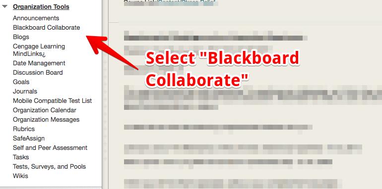Blackboard Collaborate Tools screenshot