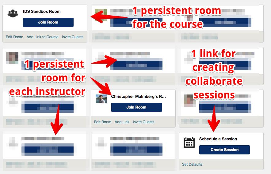 blackboard collaborate dashboard page
