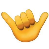 Shaka hand emoji
