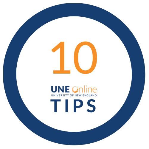 10 UNE Online Graduate School Tips