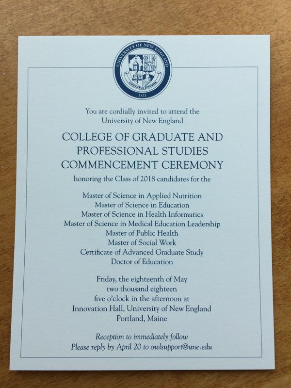 CGPS Commencement invitation